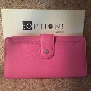 Options by Buxton Pink Leather Wallet/Clutch